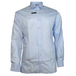 Eterna Herrenhemd Hemd Langarm Modern Fit Blau Gr. XL/43 4678/10/X177