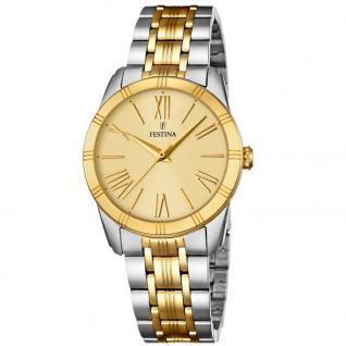 FESTINA F16941/1 Uhr Damenuhr Edelstahl bicolor gold
