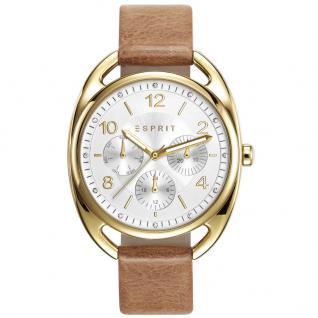 Esprit ESPRIT-TP10817 CARAMEL Uhr Damenuhr Lederarmband gold beige