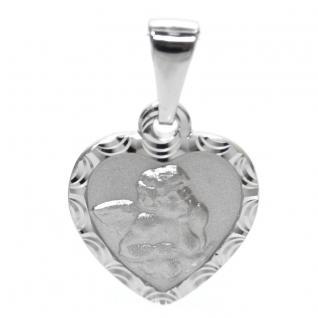 Basic Silber STG36 Kinder Anhänger Herz Schutzengel Silber
