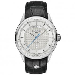 ROAMER 508293 SL1 Superior Uhr Herrenuhr Leder Datum schwarz