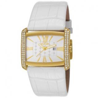 Joop JP101182F07 Romano Uhr Damenuhr Lederarmband Datum weiss