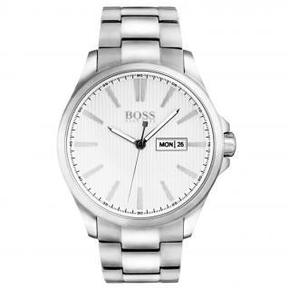 Hugo Boss 1513482 The JAMES Uhr Herrenuhr Edelstahl Datum Silber