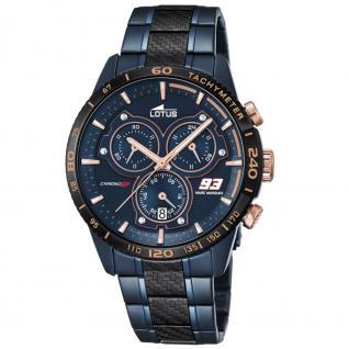 LOTUS 18330-1 Limited Edition Marc Marquez Uhr Chrono Datum blau
