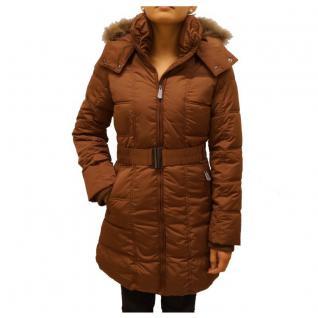 Authentic Style Winterjacke Damen Stitch & Soul Steppmantel Braun XXL