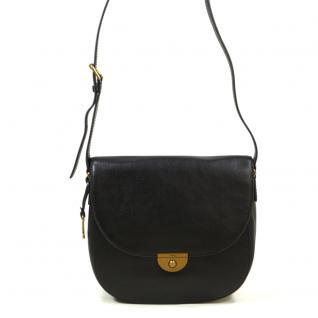 Fossil Emmi Large Sattle Bag Schwarz ZB6888-001 Handtasche Leder