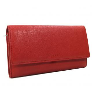 Esprit Geldbörse Basic Flap Clutch Rot 026EA1V027 Leder Geldbeutel