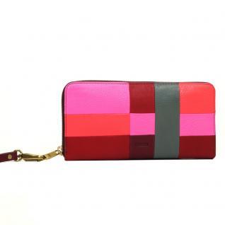 Fossil Geldbörse EMMA Zip Pink Rot Patchwork SL7237-184 Geldbeutel