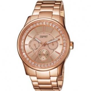 Esprit ES105442004 starlite rosegold Uhr Damenuhr vergoldet Datum rose