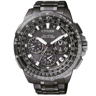 Citizen CC9025-51E Satellite Wave - GPS Uhr Herrenuhr Titan Alarm grau