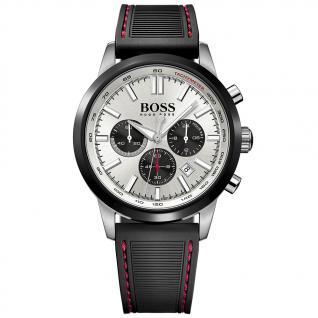 Hugo Boss Racing Chronograph Uhr Herrenuhr Kautschuk Datum schwarz