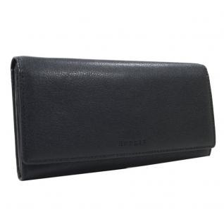 Esprit Geldbörse Basic Flap Clutch Schwarz 026EA1V027 Leder Geldbeutel