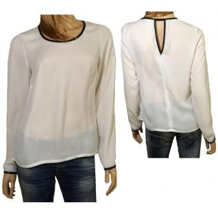 Vero Moda Damen Bluse Shirt Langarm 10129827 SKY LS Top Weiß Gr. XL