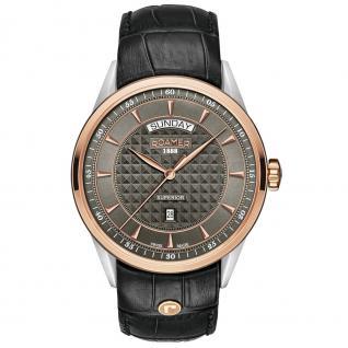 ROAMER 508293 SRGL1 Superior Uhr Herrenuhr Leder Datum schwarz