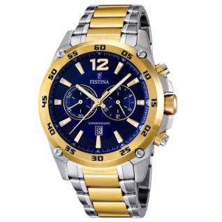 FESTINA F16681/2 SPORT Chronograph Uhr Herrenuhr Stahl bicolor gold