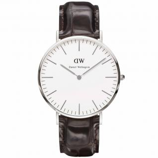 Daniel Wellington 0610DW Classic York Uhr Damenuhr Lederarmband braun