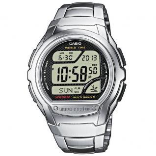 CASIO WV-58DE-1AVEF Funkuhr Uhr Herrenuhr Edelstahl Digital schwarz