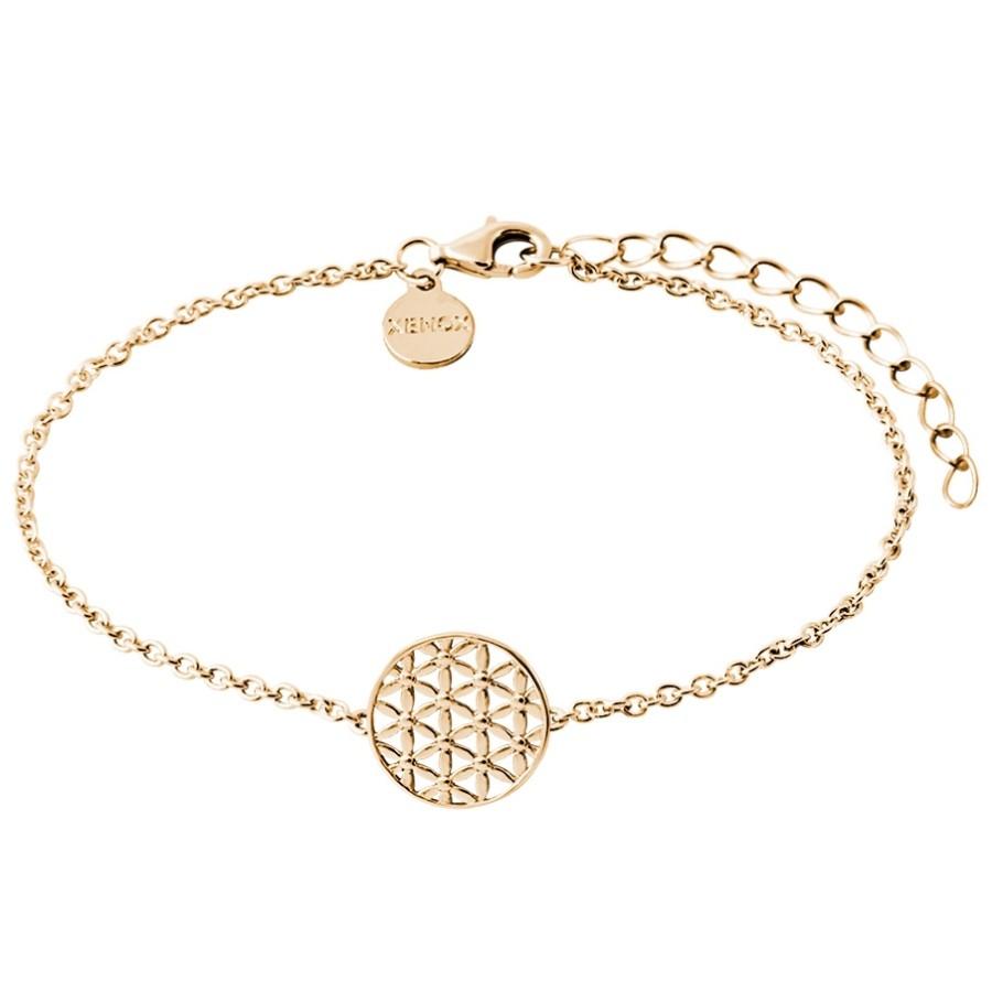 xenox xs2899g damen armband lebensblume symbolic power gold 20 cm kaufen bei city juwelier. Black Bedroom Furniture Sets. Home Design Ideas