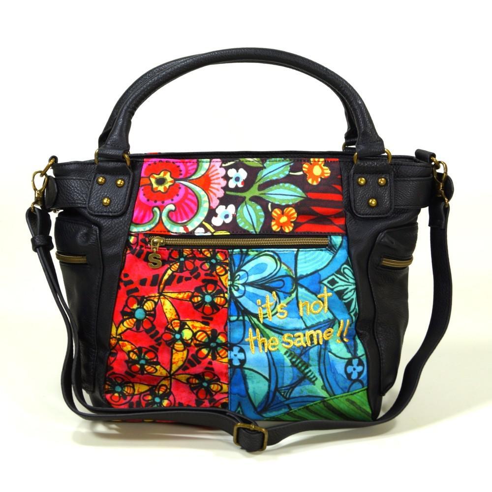 desigual bols mcbee ikara schwarz pink damen handtasche tasche kaufen bei city juwelier. Black Bedroom Furniture Sets. Home Design Ideas