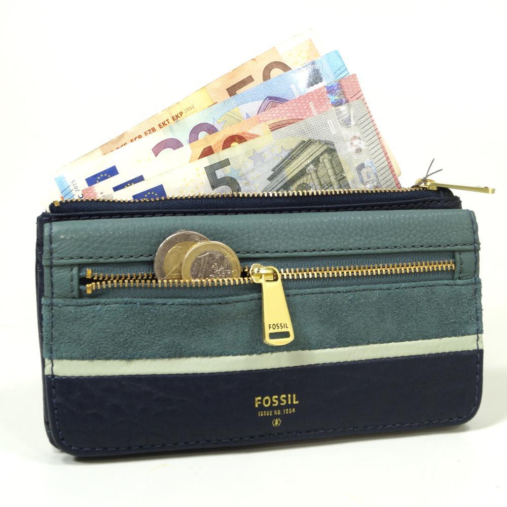 fossil geldb rse preston flap clutch blau sl7272 406 damen geldbeutel kaufen bei city juwelier. Black Bedroom Furniture Sets. Home Design Ideas
