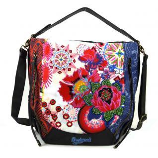 Desigual Marteta Bombai Blau Rot Schwarz Handtasche Tasche