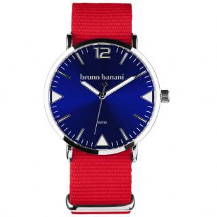 bruno banani BR30064 Cool Color Uhr Unisex Stoffband rot blau