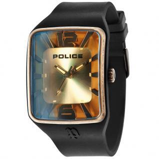 POLICE MIRAGE Uhr Herrenuhr Kautschuk schwarz