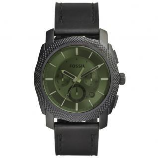 Fossil FS5190 MACHINE Uhr Herrenuhr Leder Chrono Datum schwarz