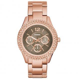 Fossil ES3863 STELLA Uhr Damenuhr vergoldet Datum rosé
