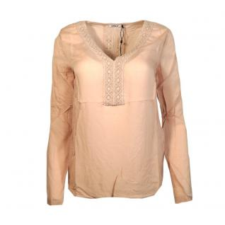 Only Damenbluse Langarm Bluse TIA L/S Lace Top Rosa Gr. 40