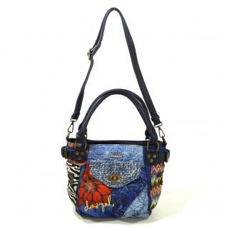 Desigual Bols McBee Mini Electra Blau Damen Handtasche Tasche