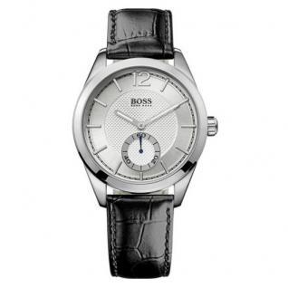 Hugo Boss 1512792 Uhr Herrenuhr Lederarmband schwarz