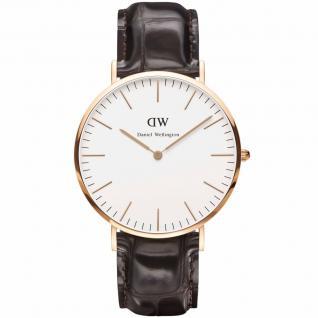 Daniel Wellington 0510DW Classic York Uhr Damenuhr Lederarmband braun