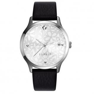 Esprit ES108902005 esprit-tp10890 black Damen Uhr Leder Datum schwarz