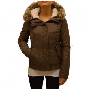 Authentic Style Winterjacke Damen Stitch & Soul Steppjacke Braun Gr XS