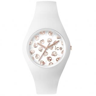 Ice-Watch ICE.SK.WRG.U.S.15 ICE SKULL White Rose Gold Uhr weiß
