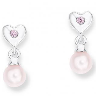 Prinzessin Lillifee PLFS/87 Mädchen Ohrringe Herz Silber rosa