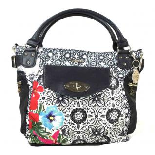 Desigual Mcbee Eixample Tropical Schwarz Handtasche Tasche