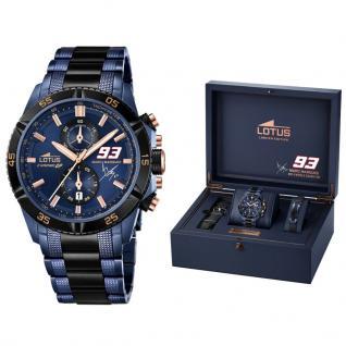 LOTUS MARQUEZ Limited Edition Geschenksset Uhr Armband blau-schwarz