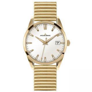 Jacques Lemans 1-1763F Uhr Damenuhr Edelstahl Datum gold