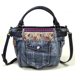 Desigual Bols McBee Ethnic Deluxe Jeans Blau Damen Handtasche Tasche
