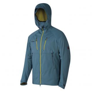 Mammut Softshell Jacke Herren Ultimate Alpine Hoody Blau Grau Gr. XL