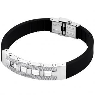 LOTUS LS1647-2-1 Herren Armband Edelstahl Kautschuk schwarz 21 cm