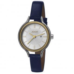 Joop JP101762006 101762 golden midnight Uhr Damenuhr Leder Datum blau