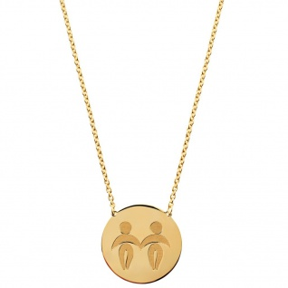 laVIIDA Damen Collier Zwilling Zodiac Silber gold 45 cm