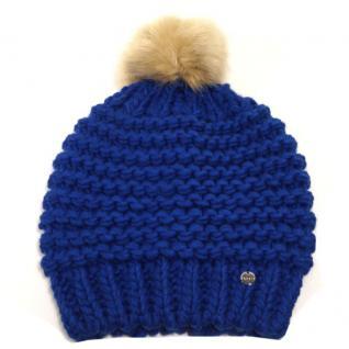 Esprit 094EA1P007-E429 POMPOM Beanie Blau Wintermütze Mützen