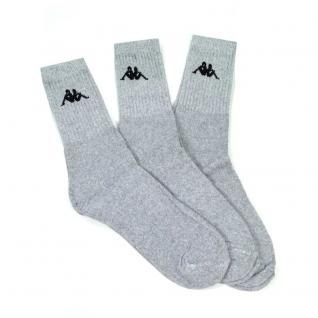 Kappa Kappa1-39-42 3 Paar Socken Grau Baumwollsocken 39-42