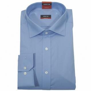 Eterna Herrenhemd 1100/14/X177 Modern Fit Mittelblau Gr. M/39