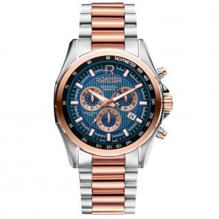 ROAMER 220837 SRGM1 Rockshell Uhr Herrenuhr Edelstahl Datum blau