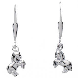 Basic Silber 02.KS132 Mädchen Ohrringe Pferd Silber